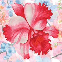 Kit de broderie Diamant - Diamond Dotz - Fleur de jardin rose