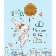 Kit de broderie Diamant - Diamond Dotz - Love you to the moon and back