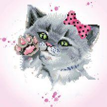 Kit de broderie Diamant - Diamond Dotz - Oeil de chat espion