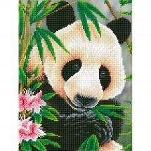 Kit de broderie Diamant - Diamond Dotz - Prince panda