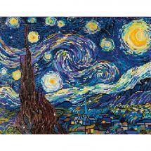 Kit de broderie Diamant - Diamond Painting - Nuit étoilée d'après Van Gogh