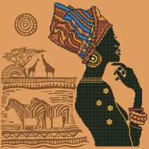 Kit de broderie Diamant - Diamond Dotz - Elégante africaine