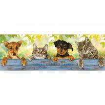 Kit de broderie Diamant - Diamond Dotz - Amis chats et chiens