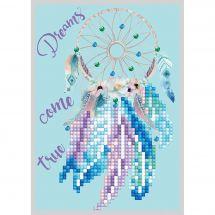 Carte broderie Diamant - Diamond Dotz - Les rêves deviennent réalité