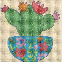 Kit de canevas unifil - Dimensions - Cactus heureux