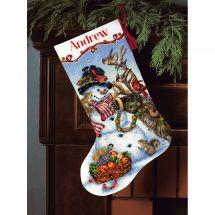 Kit de chaussette de Noël à broder - Dimensions - Veillée