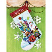 Kit de chaussette de Noël à broder - Dimensions - Side car