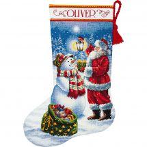 Kit de chaussette de Noël à broder - Dimensions - Lueur fêtes