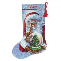 Kit de chaussette de Noël à broder - Dimensions - Père Noël