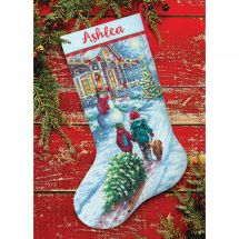 Kit de chaussette de Noël à broder - Dimensions - Tradition de Noël