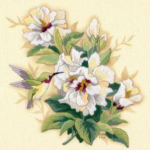 Kit au point de broderie  - Dimensions - Hibiscus floral
