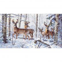 Kit point de croix - Dimensions - L'hiver des cerfs
