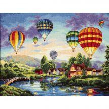 Kit point de croix - Dimensions - Lueur de montgolfières