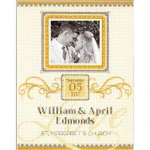 Kit point de croix - Dimensions - Registre de mariage ornement élégant