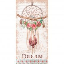 Kit point de croix - Dimensions - Capteur de rêves floral