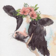 Kit point de croix - Dimensions - Douce vache