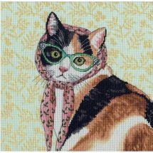 Kit point de croix - Dimensions - Maman chat