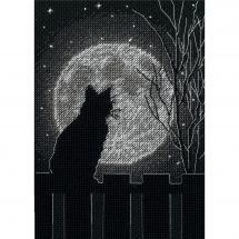 Kit point de croix - Dimensions - Chat de la lune noire
