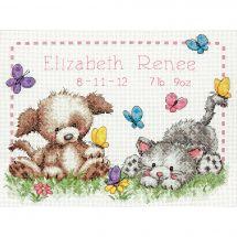 Kit point de croix - Dimensions - Registre de naissance amis des animaux