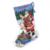 Kit de chaussette de Noël à broder - Dimensions - Liste