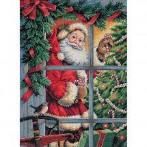 Kit point de croix - Dimensions - Canne en sucre Père Noël