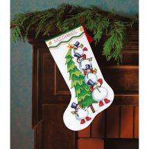 Kit de chaussette de Noël à broder - Dimensions - Sapin