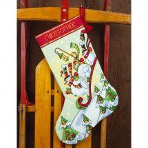Kit de chaussette de Noël à broder - Dimensions - Luge
