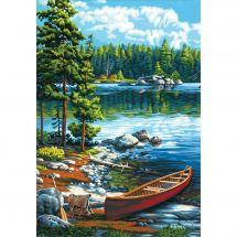 Kit de peinture par numéro - Dimensions - Canoë sur le lac