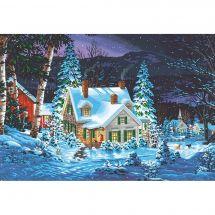 Kit de peinture par numéro - Dimensions - Silence hivernal