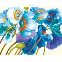 Kit de peinture par numéro - Dimensions - Coquelicots bleus