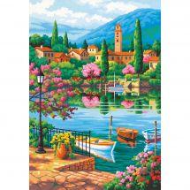 Kit de peinture par numéro - Dimensions - Après-midi au lac du village