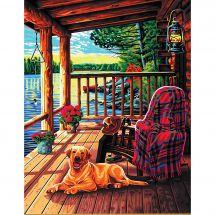 Kit de peinture par numéro - Dimensions - Porche de cabane