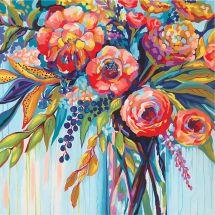 Kit de peinture par numéro - Dimensions - Célébration florale
