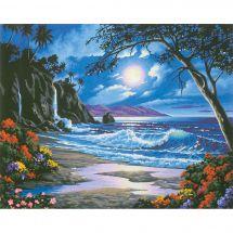 Kit de peinture par numéro - Dimensions - Paradis sous la lune