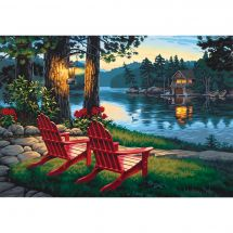 Kit de peinture par numéro - Dimensions - Soirée au bord du lac