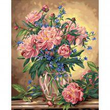 Kit de peinture par numéro - Dimensions - Bouquet de pivoines