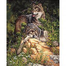 Kit de peinture par numéro - Dimensions - Loups sauvages et libres