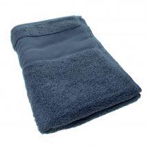 Serviette de toilette à broder  - DMC - Drap de bain bleu