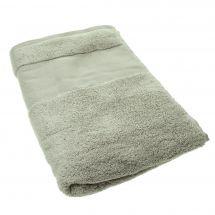 Serviette de toilette à broder  - DMC - Drap de bain gris