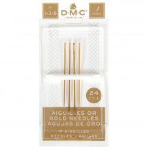 Aiguilles à broder - DMC - Aiguilles or à broder main n°1-3-5