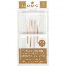 Aiguilles à broder - DMC - Aiguilles or à broder main n°7, 8 et 9