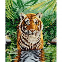 Kit point de croix - DMC - Le bain du tigre