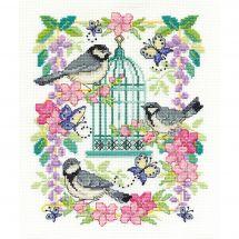 Kit point de croix - DMC - Cage aux oiseaux