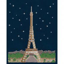 Kit point de croix - DMC - Paris la nuit