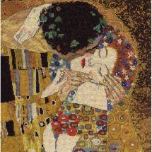Kit point de croix - DMC - Le baiser Klimt