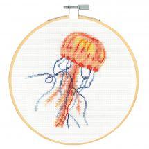 Kit point de croix avec tambour - DMC - Gentille méduse