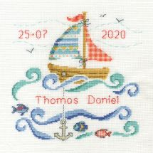 Kit point de croix - DMC - Petit voilier