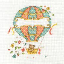 Kit point de croix - DMC - La montgolfière de bébé