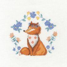 Kit point de croix avec tambour - DMC - Un renard si mignon