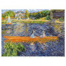 Kit point de croix - DMC - La yole d'après Renoir